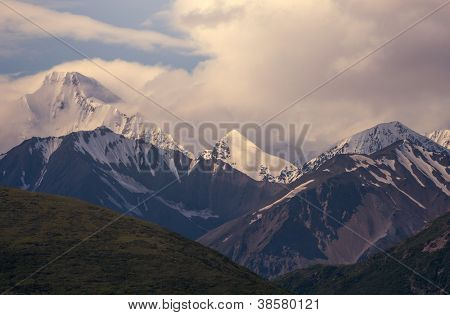 mountains in Denali National Park  on Alaska