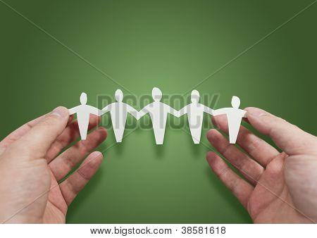Trabajar mejor juntos - el símbolo de la gente