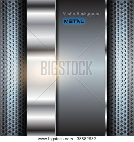 Technology background, metallic vector illustration.