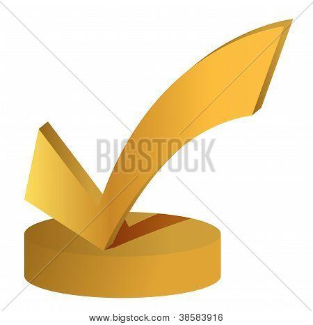 Troféu de marca de seleção