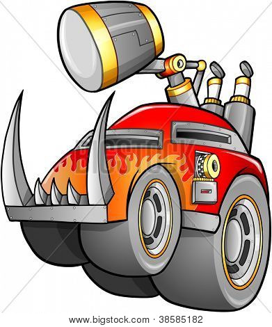 Apocalyptic Vehicle Vector Illustration