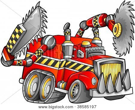 Apocalyptic Truck Vehicle Vector