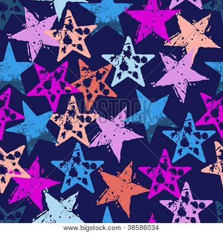 abstract stars seamless background