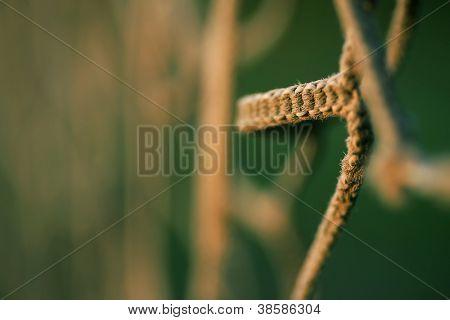 Textile curtain fence