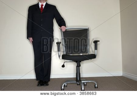 Businessman Empty Chair