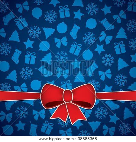 Christmas and New Year vector background