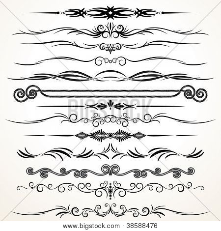 Vector Design Elements. Ornamental Lines to Embellish your Book, Invitation, Card or Menu