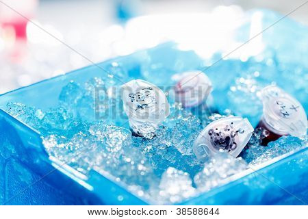 Reaction tube in a box full of ice