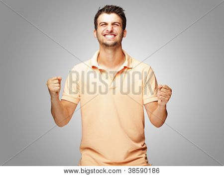 Portrait Of Excited Young�?� Man, Outdoor