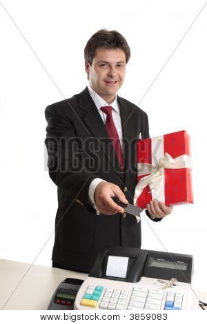 Man Paying For Persent With Card