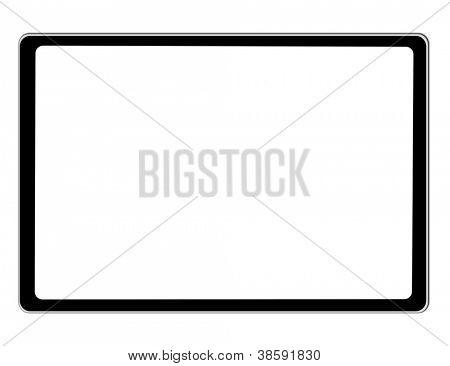 Tablet preto Ipade no fundo branco