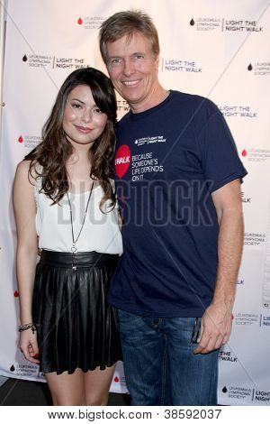 LOS ANGELES - OCT 6:  Miranda Cosgrove, Jack Wagner attends the Light The Night Walk to benefit The Leukemia & Lymphoma Society at Sunset Gower Studios on October 6, 2012 in Los Angeles, CA