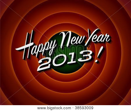 Final de la película de pantalla - feliz año nuevo 2013 - Vector EPS10