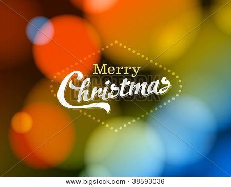 Merry Christmas Card - Editable EPS10