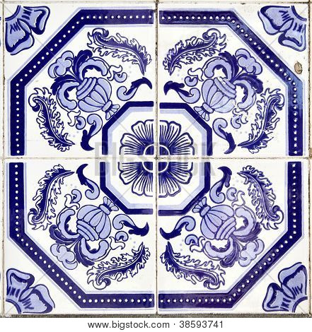 Azulejos - Portugal tiles close-up
