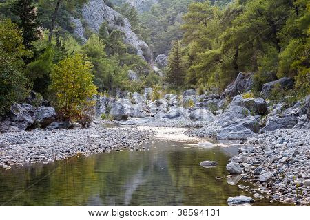 Beauty nature landscape of Gorge Goynuk Canyon Park at Turkey Antalya