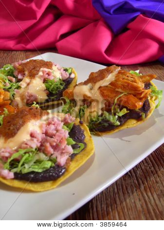 Meat Mexican Tacos And Quesadillas