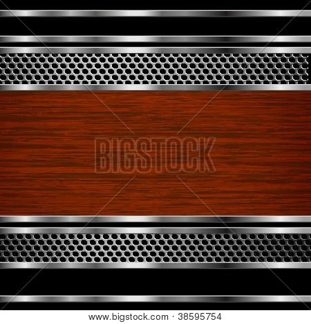 Abstract steel and wood business background. Vector eps10 illustration
