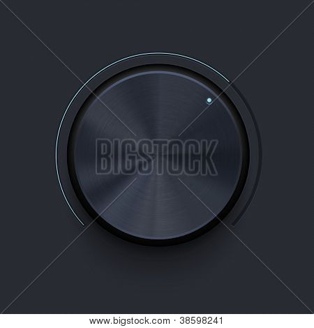Dark metallic knob