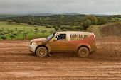 Portalegre, Portugal - November 3: Carlos Almeida Drives A Nissan Pathfinder In Baja 500, Integrated