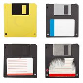 Floppy Discs Isolated Set