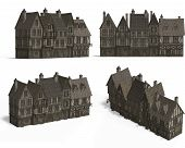 Row Of Medieval Houses poster