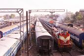 picture of boxcar  - Indian railway station - JPG