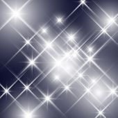 stock photo of glitz  - Vector glittering stars  - JPG