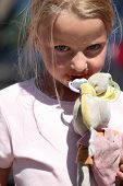 pic of geiger  - Little girl with a pacifier and a dirty toy bunny - JPG