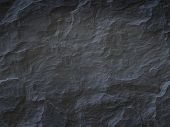 stock photo of granite  - An image of a cool black stone background - JPG