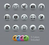 Communication Icons // Pearly Series -------It includes 5 color versions for each icon in different