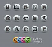 Book Icons // Pearly Series -------It includes 5 color versions for each icon in different layers --