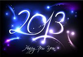 New Years banner for 2013 with back light and place for your text