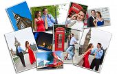 Romantic man and woman couple on vacation seeing the sights and landmarks in London, England, Great Britain poster