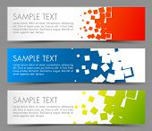 stock photo of squares  - Simple colorful horizontal banners  - JPG