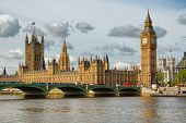 stock photo of old bridge  - The Big Ben - JPG