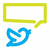 image of bluebird  - Bird tweets icon - JPG