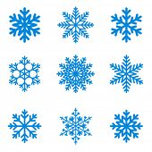 stock photo of frozen  - Snowflakes icon collection - JPG