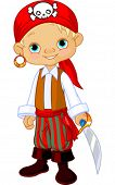 picture of buccaneer  - Boy dressed as a pirate - JPG