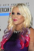 LOS ANGELES - OCT 9:  Christina Aguilera attends the 40th Anniversary American Music Awards nominati