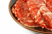 foto of wagyu  - Wagyu Beef Strips Also Known as Kobe Meat - JPG