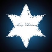 Christmas star, snowflake design background.