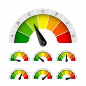 stock photo of efficiencies  - Energy efficiency rating - JPG