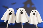 stock photo of cake pop  - Ghost cake pops - JPG