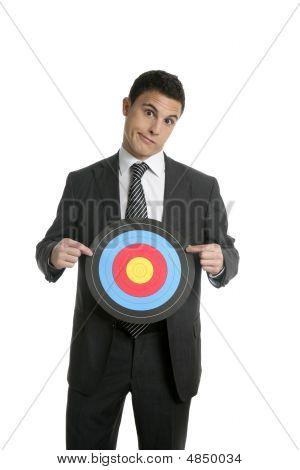 Businessman Metaphor Of Being Target