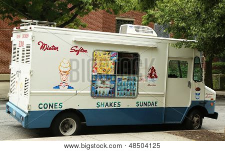 Mister Softee ice cream truck in Park Slope section of Brooklyn