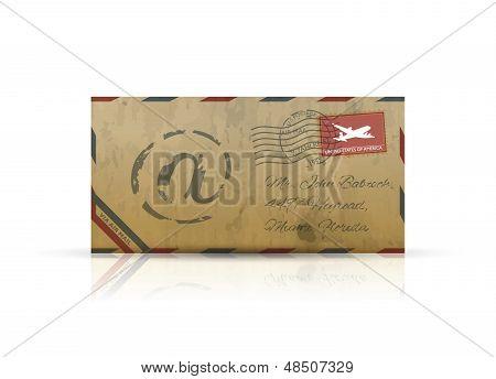 旧复古航空邮件信封矢量