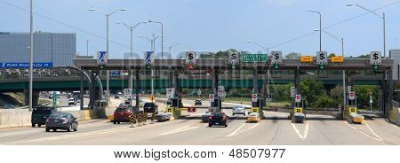 Toll Plaza At River Road, Near Chicago