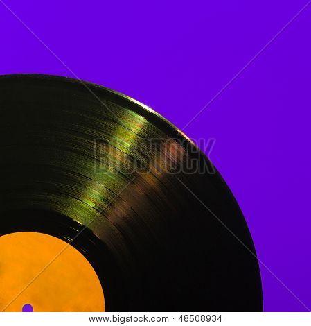 Detailed vinyl LP close up background
