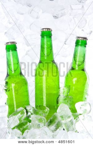 Green Beer Bottles
